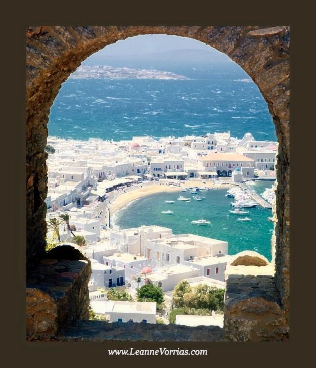 Mykonos Through The Arch