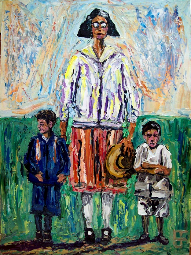 forrest_family_mother_and_sons_oil_on_canvas_panel_12x16_2014