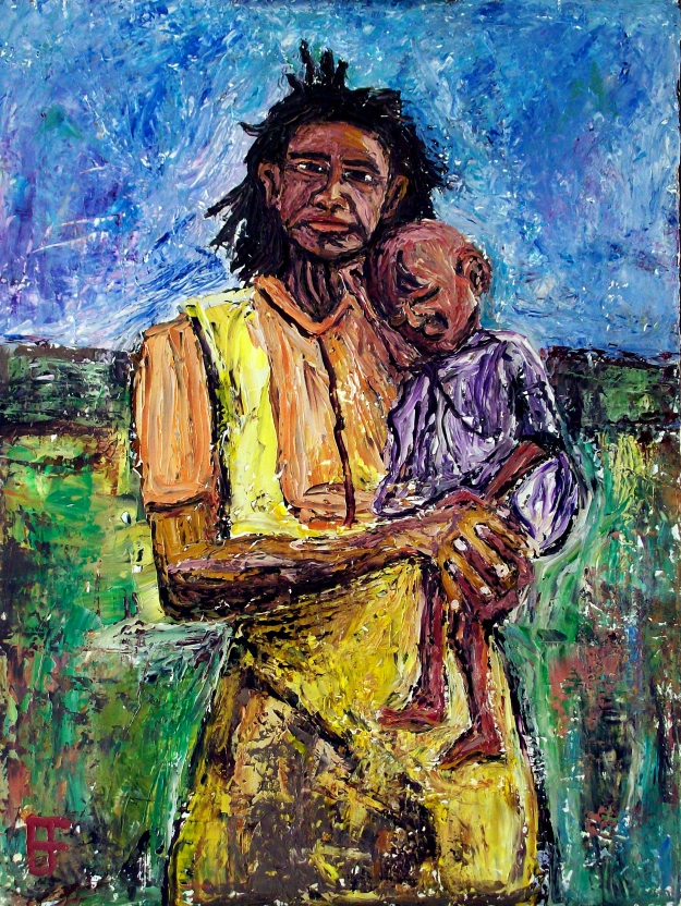 forrest_grandmother_holding_infant_with_illness_oil_on_canvas_24x18_2012
